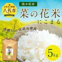 【ふるさと納税】数量限定 熊本県産 菜の花米(にこまる) 5kg 米 菜の花 菜種 有機肥料 平成30年産