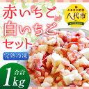 【ふるさと納税】赤いちご・白いちごセット 完熟冷凍 合計1k...
