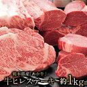 【ふるさと納税】熊本県産 あか牛 牛ヒレステーキ約1kg以上...