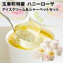 【ふるさと納税】抜群の糖度と爽やかな酸味♪ハニーローザアイスクリーム&ハニーローザシャーベット 12...
