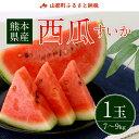【ふるさと納税】熊本県産 西瓜(すいか) 1玉