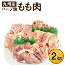 【ふるさと納税】ハーブ鶏もも肉2kgセット 大分県産 九州産 鶏肉 冷蔵 送料無料