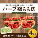 【ふるさと納税】ハーブ鶏もも肉4kgセット 2kg×2パック