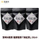 【ふるさと納税】宮崎の銘茶・篠原製茶「和紅茶」3セット
