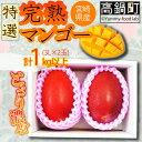 【ふるさと納税】<特選 宮崎県産完熟マンゴー 2玉 合計1k...