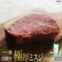 【ふるさと納税】<宮崎牛極厚ミスジステーキ300g+塩> ※...