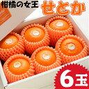 【ふるさと納税】宮崎県産 柑橘の女王せとか 6玉入り 平成3...