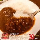 【ふるさと納税】ビーフカレー レトルト 宮崎牛 合計30食分...
