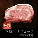 【ふるさと納税】 リブロースブロック 宮崎牛 約1kg 黒毛和牛 国産 宮崎県産 リブロース ブロック bbq 焼き肉 送料無料