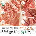 【ふるさと納税】ブランド豚 宮崎県産豚 焼肉セット 約2.4...