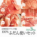 【ふるさと納税】ブランド豚 宮崎県産豚 普段使いセット 3k...