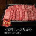 【ふるさと納税】しっとり赤身焼肉 カット 宮崎牛 500g BBQ 牛肉 和牛 バーベキュー 送料無...