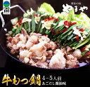 【ふるさと納税】牛もつ鍋&野菜セット(あごだし醤油味)4〜5人前《都農町加工品》