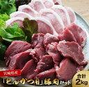 【ふるさと納税】宮崎県産『とんかつ用』豚肉セット(ロース・ヒレ)合計2kg《都農町加工品》