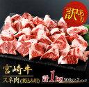【ふるさと納税】【訳あり】宮崎牛スネ肉(煮込み用)計1kg