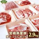 【ふるさと納税】宮崎県産 豚食べつくしセット 合計2.9kg...