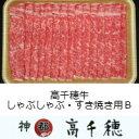 【ふるさと納税】B-2 高千穂牛しゃぶしゃぶ・すき焼き用 B