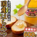 【ふるさと納税】純国産の蜂蜜!出水の香り(600g)安心安全...