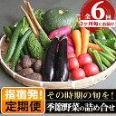 【ふるさと納税】<定期便!翌月から2ヶ月毎に全6回>指宿産季節野菜の詰め合わせ(10〜13品目)指宿