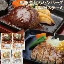 【ふるさと納税】鹿児島県産黒豚煮込みハンバーグ・味噌ステーキ...