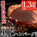 【ふるさと納税】鹿児島黒豚使用!黒豚ハンバーグ計15個約1....