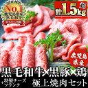 【ふるさと納税】日本一の鹿児島黒毛和牛と鹿児島黒豚に特製チー...