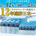 【ふるさと納税】天然アルカリ温泉水財宝2L×12本+500ml×25本【財宝】