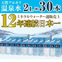 【ふるさと納税】日本一売れている天然アルカリ温泉水2L×30...