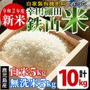 【ふるさと納税】平成29年産 白米&無洗米 計10kgセット...