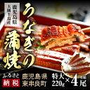 【ふるさと納税】大隅産うなぎの蒲焼 特大220g×4尾(有頭...