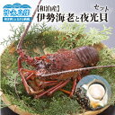 【ふるさと納税】【和泊産】店主が素潜りで獲った伊勢海老と夜光貝のセット