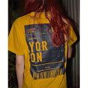 ショッピング電波 【ふるさと納税】【Mサイズ】電波はないが愛はある!! Y0R0N100Tシャツ ティダ(太陽)カラー