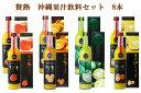 【ふるさと納税】贅熟 沖縄果汁飲料セット 8本