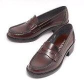 (B倉庫)HARUTA ハルタ 4603 レディース ローファー 通学 学生 靴 3E ヒール高4.5cm足長モデル