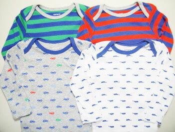 カーターズ CARTER'S ボディスーツ ロンパース(長袖) 男の子 女の子 下着 新生児 ベビー用 肌着 出産祝い バラ売り(単品)KNC-017