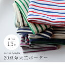 【50cm単位】 20双糸天竺ボーダー[M便 1/2]