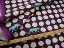 大人気echinoのパンサー(panther)が再販となりました☆【再入荷!】★50cm単位続けてカット★ 【echino】古家悦子パンサー(panther) E濃い紫地