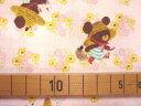【送料無料!】【シーチング】☆1m単位続けてカット☆ジャッキーのおでかけ 麦わら帽子柄ピンク地  2012cha/入園・入学