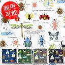 【ツイル】★50cm単位続けてカット★昆虫がいっぱい【昆虫英...