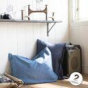 【Fab the Home】 ライトデニム 枕カバー 50×70 ピロケースL ネイビー/ブルー