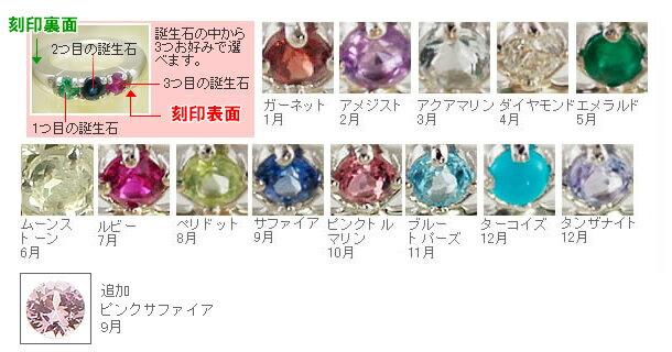 ベビーリング 刻印無料 3個の天然宝石が選べる...の紹介画像2