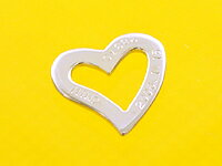 Engraved white gold heart pendant