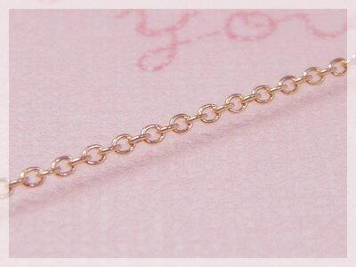 【送料無料】丸アズキネックレス:スライド調整式(長さ45cm:幅1.1mm)/ピンクゴールドK18