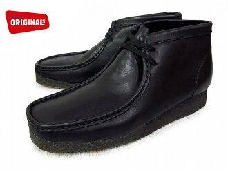 克拉克斯袋鼠靴子 CLARKS 方勵啟動 26103666 黑色皮革美國標準男人男士皮靴