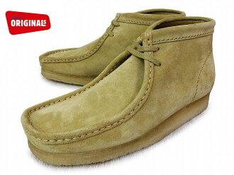 克拉克斯袋鼠靴子楓麂皮絨 CLARKS 方勵啟動 26103811 楓麂皮絨美國標準男人男士皮靴