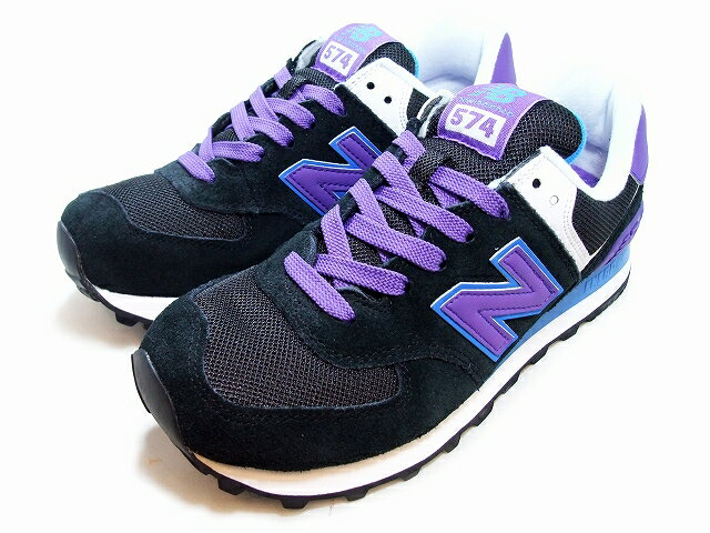 new balance 574 black and purple