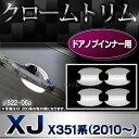 ■RI-JR822-06(813-07)■ドアノブインナー用■クロームメッキランプトリム■Jaguar ジャガーXJ X351系 (2010以降)■ガーニッシュ...