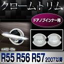 RI-MI402-09(401-04) ドアハンドルインナー用 クローム メッキ ランプ トリム ガーニッシュ カバー BMW ミニ クーパー R55 R56 ...