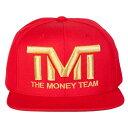 tmt-h006-3rg THE MONEY TEAM ザ マネーチーム COURTSIDE (赤ベース 金ロゴ) 刺繍ロゴ キャップ フロイド メイウェザー ジュニア ボクシング Floyd Mayweather WBA WBC ( TMT 帽子 ストリート メンズ スナップバック ロゴキャップ )