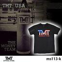 【TMT-MS113-K】 ザ・マネーチーム Tシャツ TMT USA 黒ベース×アメリカ フロイド